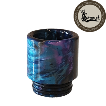 Drip Tip Resin Wide Bore blau