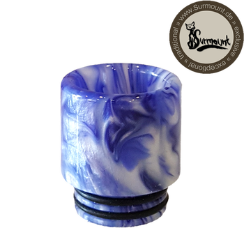 Drip Tip Resin Wide Bore blau-weiß