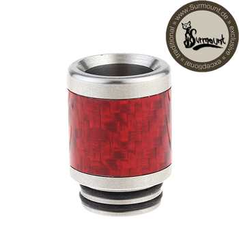 Drip Tip Edelstahl-Carbon 810 rot