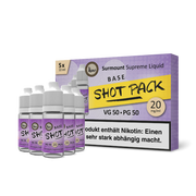 Surmount Shot Pack Standard Base (50/50, 5x10ml)